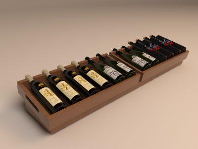 Открытый ящик для хранения вина