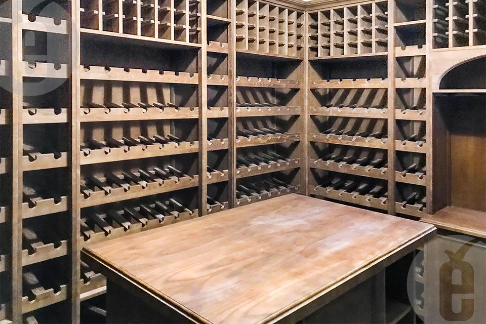 стеллажи для хранения вина в бутылках