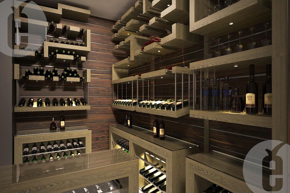 Стеллаж для винных бутылок купить на заказ